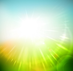 Spring abstract background, sun rays, eps 10